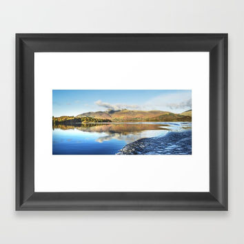 Skiddaw Reflections 2 Framed Art Print by Linsey Williams Art