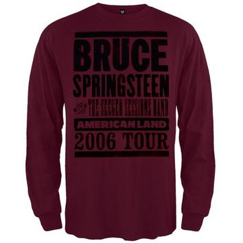 Chenier Bruce Springsteen - Americanland 06 Tour Long Sleeve T-Shirt