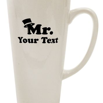 Personalized Mr Classy 16 Ounce Conical Latte Coffee Mug by TooLoud