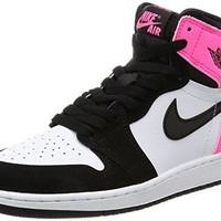 Jordan Kid's AIR 1 RETRO HIGH OG GG, BLACK/BLACK-HYPER PINK-WHITE