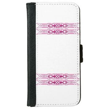 Border 1 pink wallet phone case for iPhone 6/6s