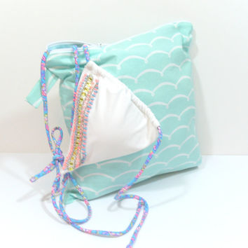 Beach Waves Wet Bag, Bathing Suit Wet Bag, Beach Wet Bag, Summer Wet Bag, Wet Bag for Clothes, Diaper Wet Bag, Large Wet Bag, Travel Wet Bag