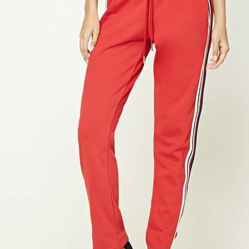 Striped Drawstring Sweatpants