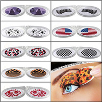 10 Style Instant Temporary Eye Tattoo Transfer Eyeliner Eyeshadow Stickers