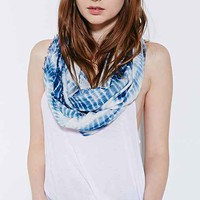 Ecote Tie-Dye Gauze Eternity Scarf- Blue Multi One