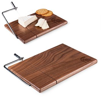Michigan State Spartans 'Meridian' Black Walnut Cutting Board & Cheese Slicer-Black Walnut Laser Engraving