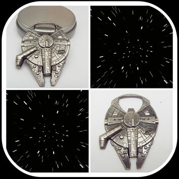 High Quality Star Wars Millennium Falcon Metal Alloy Bottle Opener Soccer Gifts Keyring