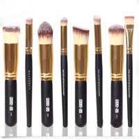 Professional Makeup Cosmetic Brushes Set 8PCS Face Eyeshadow Nose Foundation Kit (Color: Gold) = 5617794433