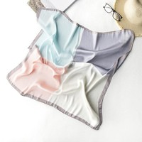 Multi-functional Large Square Towel Women Silk Neckerchief Scarf Turban Knotted Hair Band Headdress