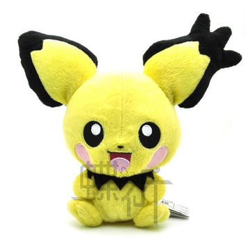 13cm Bokemon go Pikachu Pichu Thunder Fairy Plush Plush Doll Toy For Gift Mythical