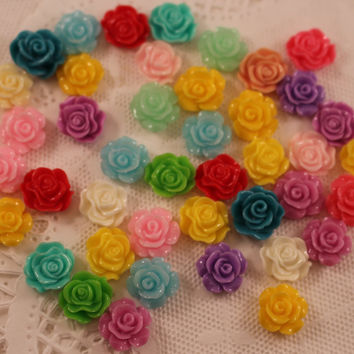 Resin Flower in a Silver Setting, Resin Flower, Colored Flower Add On,