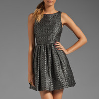 Plenty by Tracy Reese Laminated Lace Frock in Black/Silver from REVOLVEclothing.com