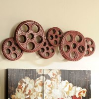 Red Movie Reels Wall Plaque