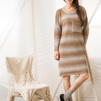 Dip Dye Knitted Dress