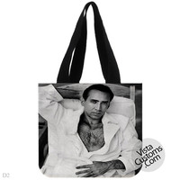 Nicolas Cage Quote Hot Sexi, handmade bag, canvas bag, tote bag