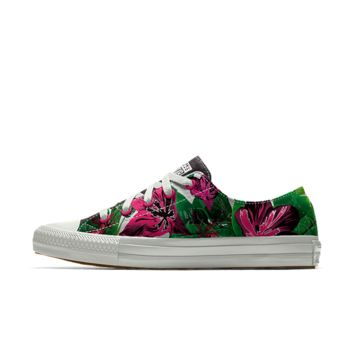 The Converse Custom Gemma Floral Low Top Women's Shoe.