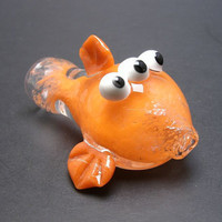 Blinky the Three-Eyed Mutant Fish Chillum Glass Pipe