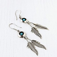 Stone And Feather Drop Earring at Free People Clothing Boutique