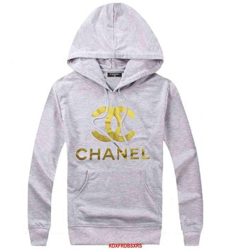 CHANEL Woman Men Hooded Top Sweater Hoodie Sweatshirt