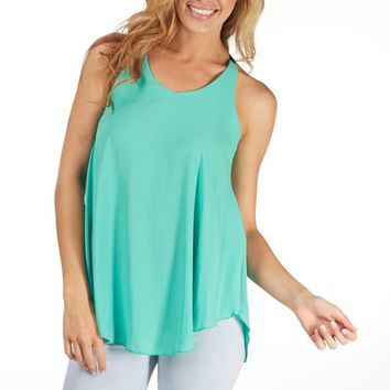 Mint Green Flowy Tank Top