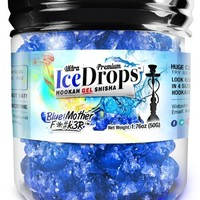 Blue Mother F*#k3R 50G Ultra Premium Beamer Ice Drops ¨ Hookah Shisha Smoking Gel. Each bowl lasts 2-4 Hours! USA Made, Huge Clouds, Amazing Taste! Better Taste & Clouds than Tobacco! 2-3 bowls per Jar!