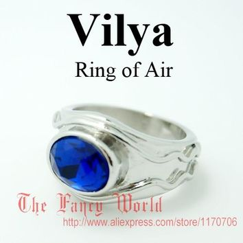Lord of Rings Vilya Elrond Gil-galad Ring of Air LOTR jewelry elf Three Rings fashion jewelry hobbit ring