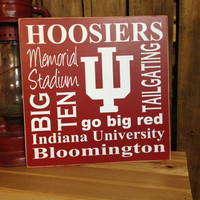 "Indiana University ""Hoosiers"" Sport Subway 12""x12"" Word Art by The Word Sister"