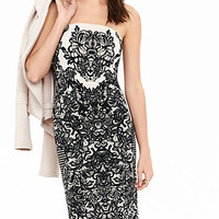 Ornate Lace Print Tube Dress from EXPRESS