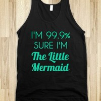 sure i'm the little mermaid black tank - glamfoxx.com