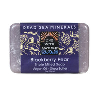 One With Nature Triple Milled Bar Soap - Blackberry Pear - 7 oz