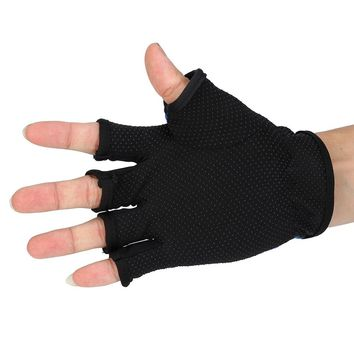 Random Color High Quality Durable and portable Fingerless Exposed Men&Women Breathable Fishing Glove Anti Slip 5 Cut Glove A20