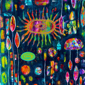 Under the Sea Abstract Art Giclee Print