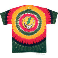 Grateful Dead - Rasta Steal Your Face T Shirt on Sale for $24.95 at HippieShop.com