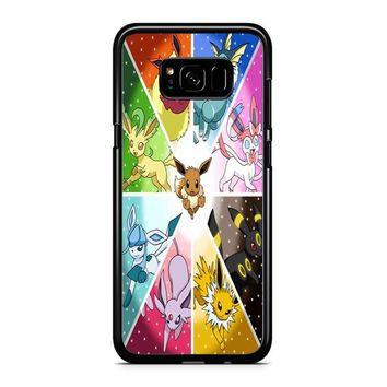 Pokemon The Eeveelutions Samsung Galaxy S8 Case