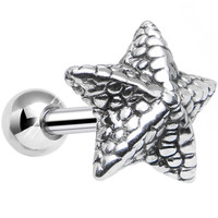 925 Sterling Silver Oceanic Starfish Tragus Cartilage Earring | Body Candy Body Jewelry