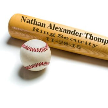 Personalized Custom Ring Bearer Baseball Bat~ Engraved Groomsmen Groom, Father od Bride & Groom ~ Best Man Gift, Wedding Keepsake