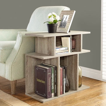 """Dark Taupe Reclaimed-Look 24""""H Accent Side Table"""