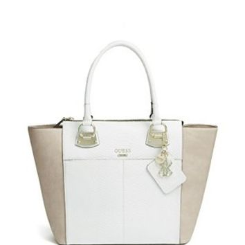 Nikki Floral-Print Chain Tote at Guess