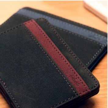 3 colors Korea fashion best selling high quality PU leather men magic wallets 11*7CM
