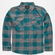 Shouthouse Cast Boys Flannel Shirt Teal Blue  In Sizes