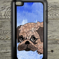 Painting Pug iPod 4 Touch Case