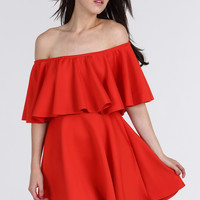 Red Bardot Skater Dress - Find Cheap Clothes - Cheap Clothing - Womens £5 Fashion | Missrebel