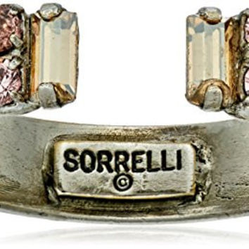"Sorrelli ""Sand Dune"" Petite Crystal Open Ring, Size 7-9"