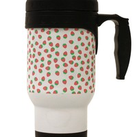 Strawberries Everywhere Stainless Steel 14oz Travel Mug by TooLoud