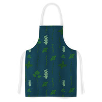 "Stephanie Vaeth ""Herb Garden"" Green Illustration Artistic Apron"