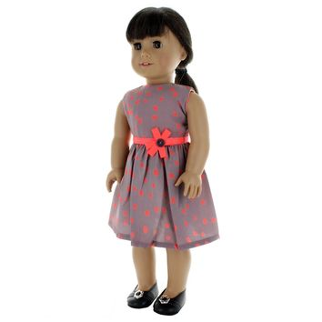 "Doll Clothes Fits American Girl 18"" Inch Polka Dots Pink Dress Outfit"