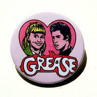 Grease  button badge or magnet 1.5 Inch by PKPaperKitty on Etsy