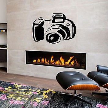 Camera photograph photo Kids Room Children Stylish Wall Art Sticker Decal 8244