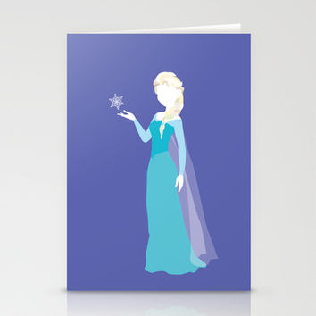 Elsa from Frozen Stationery Cards by Alice Wieckowska