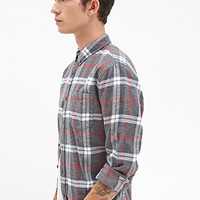 Plaid Flannel Shirt Grey/Red